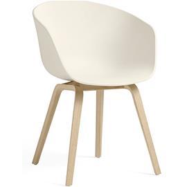 Hay Hay-AAC 22 Tuoli, Vesipohjaisella Lakalla Käsitelty Tammi / Cream White