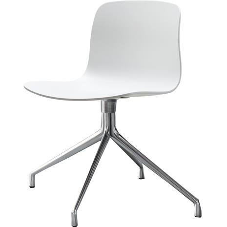 Hay Hay-AAC 10 Tuoli, Kääntöalusta Aluminium / Valkoinen