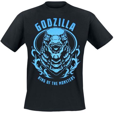Godzilla - Badge - T-paita - Miehet - Musta