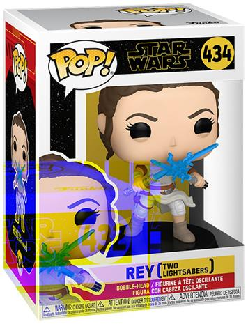 Star Wars - The Rise of the Skywalker - Rey (Two Lightsabers) Vinyl Figur 434 - Funko Pop! -figuuri - Unisex - multicolor