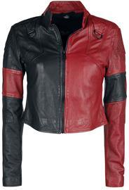 Suicide Squad - 2 - Harley Quinn - Nahkatakki - Naiset - Musta punainen