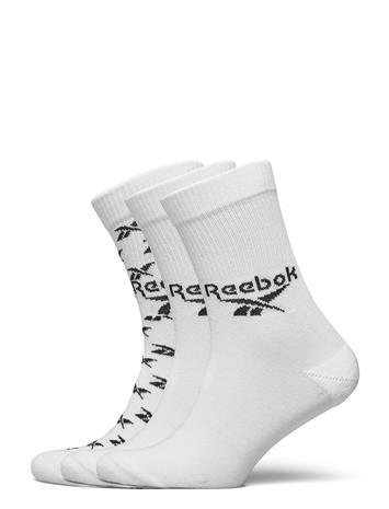 Reebok Classics Cl Fo Crew Sock 3p Underwear Socks Regular Socks Valkoinen Reebok Classics WHITE
