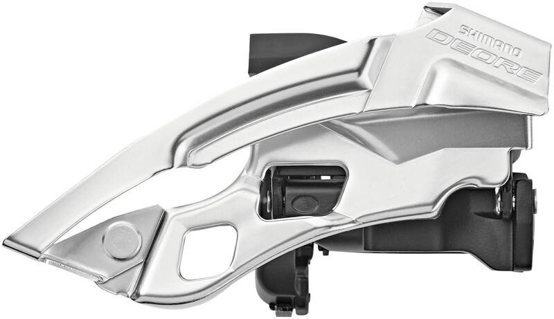 Shimano Deore Trekking FD-T6000 Etuvaihtaja 3x10 syvä puristin Top Swing, harmaa