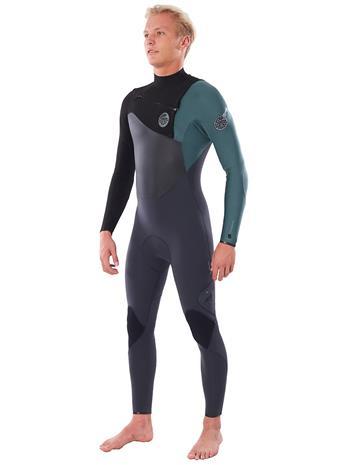 Rip Curl Flashbomb 5/3 GB Chest Zip Wetsuit green Miehet