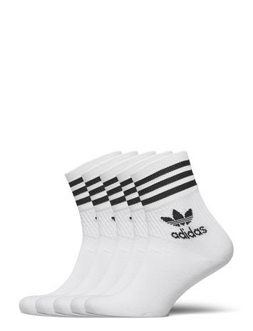 adidas Originals Mid Cut Crw 5pp Underwear Socks Regular Socks Valkoinen Adidas Originals WHITE