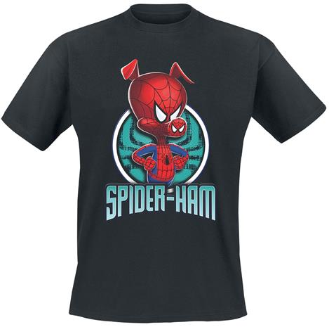 Spider-Man - Into The Spider-Verse - Spider-Ham - T-paita - Miehet - Musta