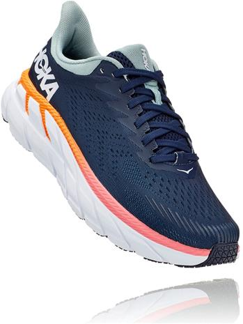 Hoka One One Clifton 7 Wide Running Shoes Women, sininen