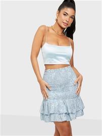 Only Onlmollie Short Skirt Wvn Cashmere Blue Ditsy