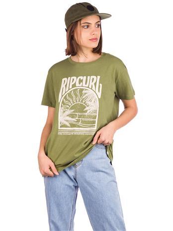 Rip Curl North Shore Standard T-Shirt olive Naiset