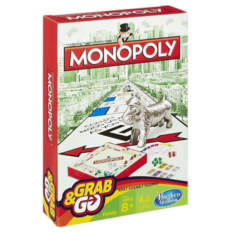 HASBRO GAMING grab and go game Monopoly, B1002