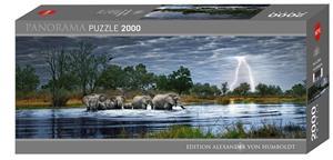 Heye Alexander von Humboldt Herd of Elephants 2000p palapeli