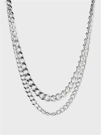 Pieces Pcjennifer Combi Necklace D2D Silver Colour