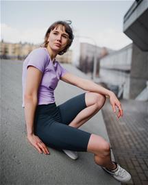 Mimas Biker Pyöräilyshortsit - Vastuullisesti tuotettu, Slate / L