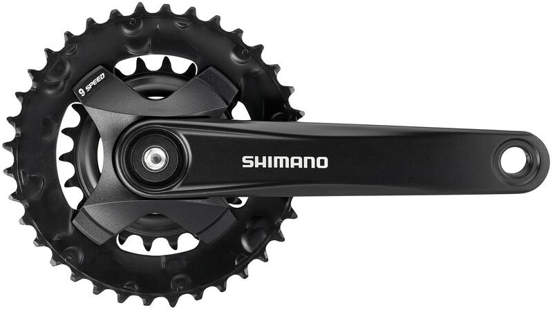 Shimano FC-MT101-B Crankset 2x9-speed 36-22T, black