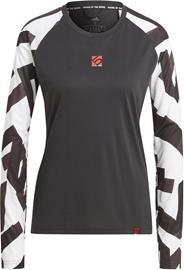 adidas Five Ten THE 5.10 Trail Long Sleeves T-Shirt Women, musta/valkoinen