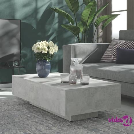 vidaXL Sohvapöytä betoninharmaa 115x60x31 cm lastulevy