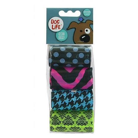 Dog Life Trust Biodegradable Patterned Plastic Poop Bags (Pack Of 4)