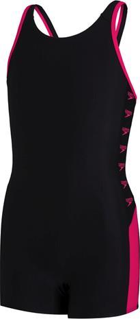 speedo Boom Logo Splice Legsuit Girls, musta