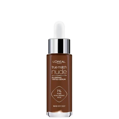 L'Oréal Paris True Match Nude Plumping Tinted Serum (Various Shades) - 10-12 Very Deep