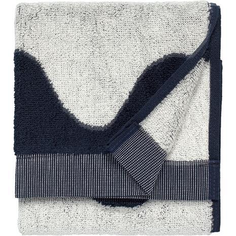 Marimekko Lokki Vieraspyyhe Tummansininen / Off-white, 30x50 cm
