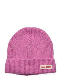 Bobo Choses Pink Brushed Beanie Accessories Headwear Beanies Vaaleanpunainen Bobo Choses PRISM PINK