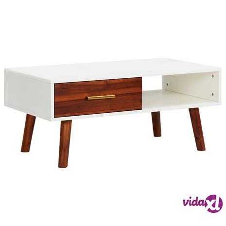 vidaXL Sohvapöytä 90x50x40 cm täysi akaasiapuu ja MDF