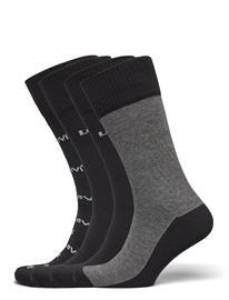 Levi´s Levis Giftbox Reg Cut Logo Banner 4 Underwear Socks Regular Socks Musta Levi´s BLACK COMBO