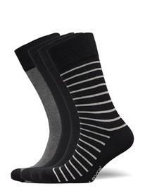 Levi´s Levis Giftbox Reg Cut Stripe Black Underwear Socks Regular Socks Musta Levi´s BLACK COMBO