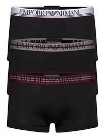 Emporio Armani Men'S Knit 3-Pack Trunk Bokserit Musta Emporio Armani NERO/NERO/NERO
