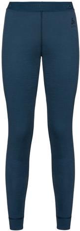 Odlo Natural 100% Merino Warm Suw 3/4 Pitkät alushousut Naiset, sininen