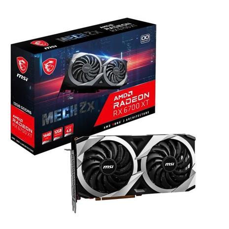 MSI Radeon RX 6700 XT MECH 2X OC 12 GB, PCI-E, näytönohjain