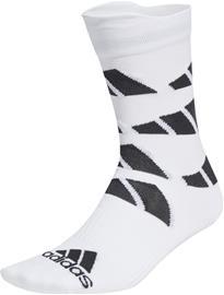 adidas All Oversize Printed Sukat, valkoinen/musta