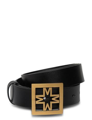 By Malina Iconic Thin Leather Belt Vyö Musta By Malina BLACK