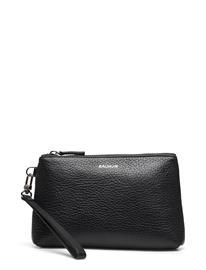 Balmuir Emelie Pouch Bags Clutches Musta Balmuir BLACK/SILVER