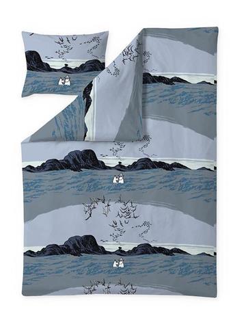 Finlayson Nummimuumi -pussilakanasetti, sininen, 150 x 210 + 50 x 60 cm