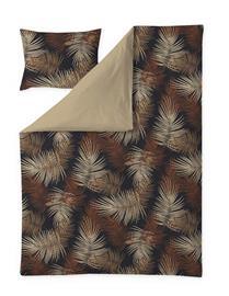 Finlayson Palma -satiinipussilakanasetti, ruskea-beige, 150 x 210 + 50 x 60 cm