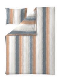 Finlayson Vyyhti -pussilakanasetti, siniharmaa-oranssi, 150 x 210 + 50 x 60 cm