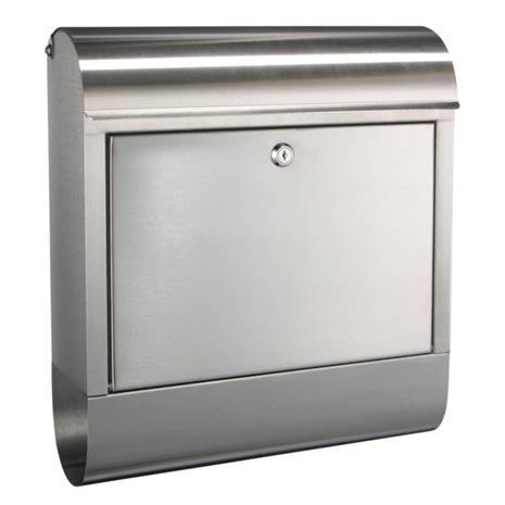 HI postkasse 38 x 12 x 42,5 cm rustfrit stål