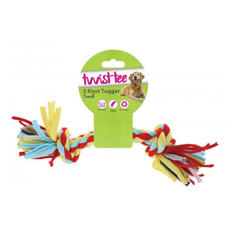 Happy Pet Twist-Tee 2 Knot Dog Toy