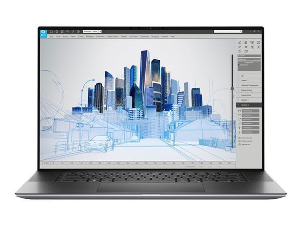 """Dell Precision Mobile 5760 W7P08 (Core i9-11950H, 32 GB, 512 GB SSD, 17"""", Win 10 Pro), kannettava tietokone"""