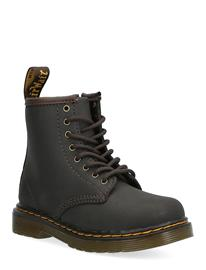 Dr. Martens 1460 T Dark Brown Wildhorse Lamper Bootsit Nauhalliset Saapikkaat Musta Dr. Martens DARK BROWN