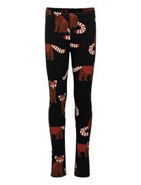 Lindex Leggings Red Panda Aop Brusche Leggingsit Musta Lindex BLACK