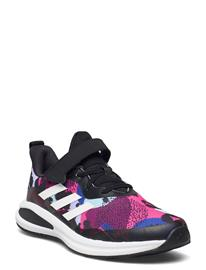 adidas Performance Fortarun Elastic Lace Top Strap Running Shoes Sports Shoes Running/training Shoes Monivärinen/Kuvioitu Adidas Performance CBLACK/FTWWHT/VIOTON