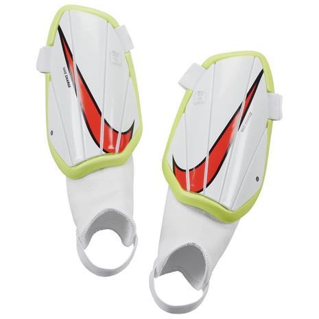 Nike Säärisuojat Charge Motivation - Valkoinen/Neon/Punainen Lapset