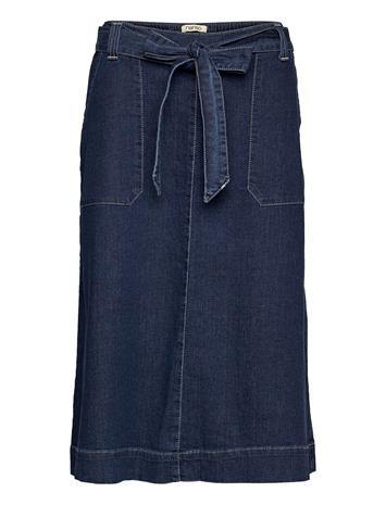 Nanso Ladies Skirt, Aalto Polvipituinen Hame Sininen Nanso DENIM BLUE