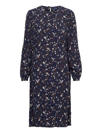 GANT D1. Rose Bud Knee Dress Polvipituinen Mekko Sininen GANT EVENING BLUE