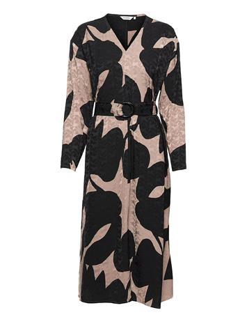 Marimekko Luhtakulta Tuliaiset Dress Dresses Everyday Dresses Monivärinen/Kuvioitu Marimekko TAUPE, BLACK