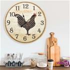 vidaXL Seinäkello kanan kuvalla monivärinen 60 cm MDF