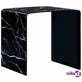 vidaXL Sohvapöytä musta marmori 50x50x45 cm karkaistu lasi