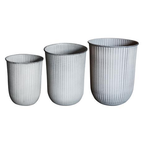 DBKD Out Stripe Pots 3-pack, Light Grey